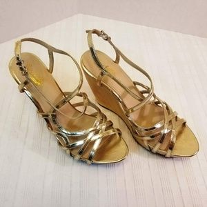NWOB. Seychelles Strappy Wedge Sandals Size 10